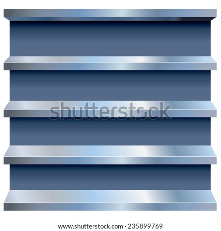 Vector Metal Shelves - stock vector