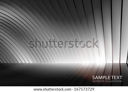 Vector metal surface illustration for web design - Modern lighted silver vector background illustration  - stock vector