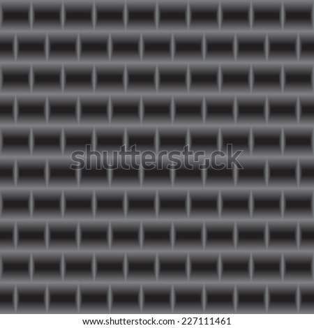 Vector metal texture. Metal grill seamless pattern. Abstract dark background. - stock vector