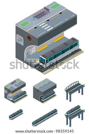 Vector metropolitan icons - stock vector