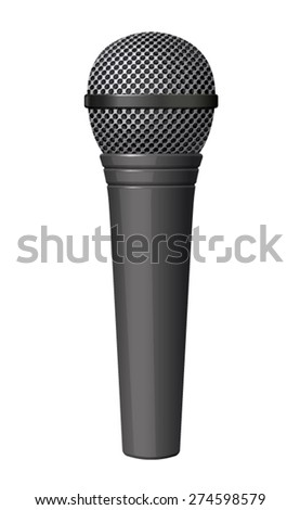 Vector microphone illustration on white background