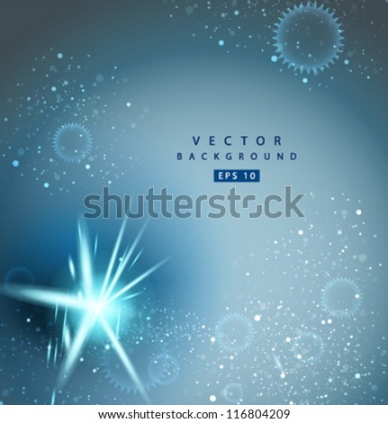 Vector microworld background - stock vector