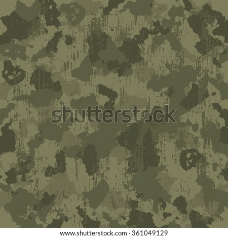 vector military camouflage pattern in green colors. EPS - stock vector
