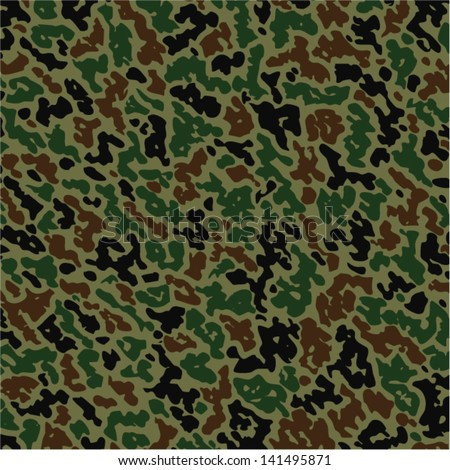 vector military summer camouflage pattern - stock vector