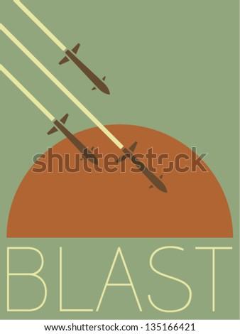Vector Minimal Design - Blast - stock vector