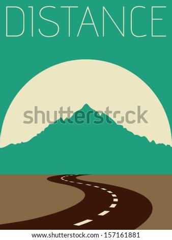 Vector Minimal Design - Distance  - stock vector