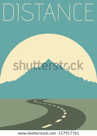Vector Minimal Design - Distance  - stock vector