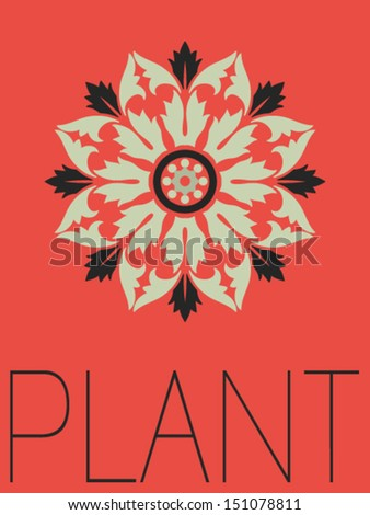 Vector Minimal Design - Plant  - stock vector