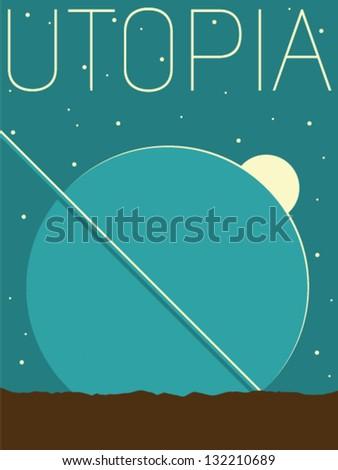 Vector Minimal Design - Utopia - stock vector