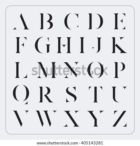 Vector Minimalist Alphabet Set - stock vector