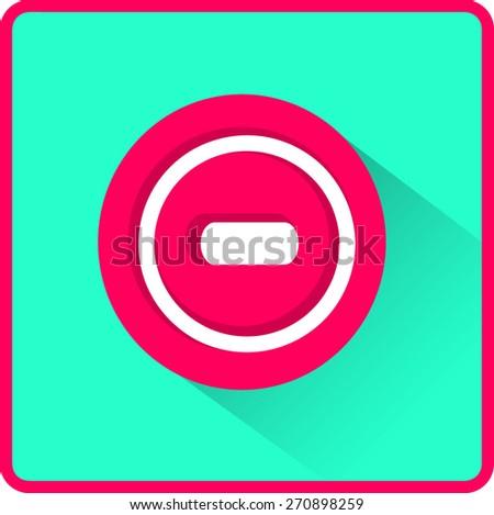 Vector minus web flat icon - stock vector