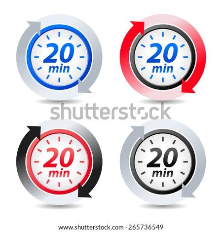 Vector 20 minutes - stock vector