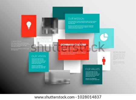 Vector mission vision values diagram schema stock vector vector mission vision and values diagram schema template with sample texts and photos ccuart Image collections
