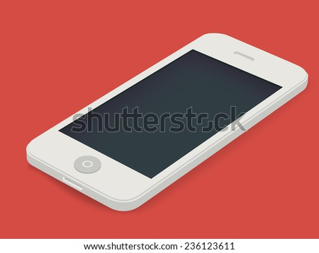 Vector MockUp white phone - stock vector