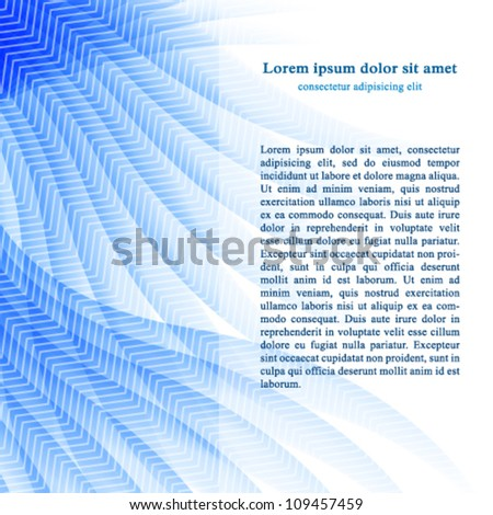 Vector modern abstract blue business background. Jpeg version also available in gallery. - stock vector