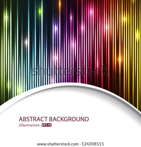 Vector modern abstract lights business background.