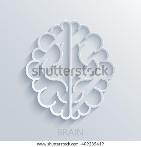 Vector modern brain light background. Business innovation concept - stock vector