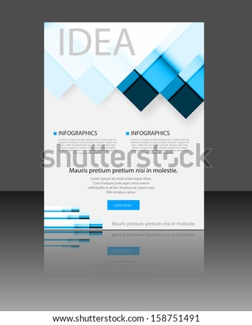 Vector Modern brochure, easy editable - stock vector
