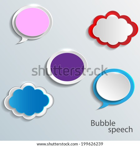 Vector modern bubble speech icons set