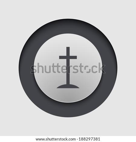 Vector modern circle icon. Eps 10 illustration - stock vector