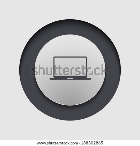 Vector modern circle icon. Eps 10 illustration - stock vector