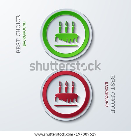 Vector modern circle icons on sample background. 2 variants. Eps10 - stock vector