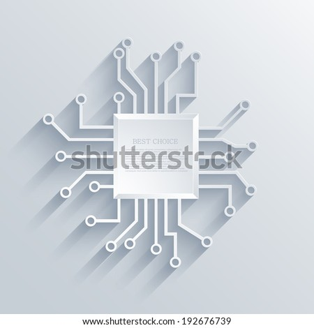 Vector modern circuit board background. Eps 10 - stock vector