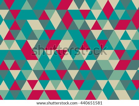 Vector modern colorful geometry triangle pattern, color abstract geometric background, pillow multicolored print, retro texture, hipster fashion design