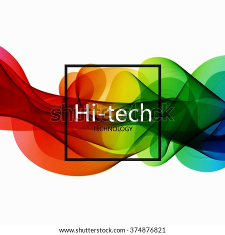 Vector modern colorful hi-tech abstract background. Eps10 - stock vector