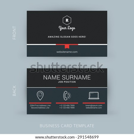 Vector Modern Creative and Clean Business Card Template - stock vector