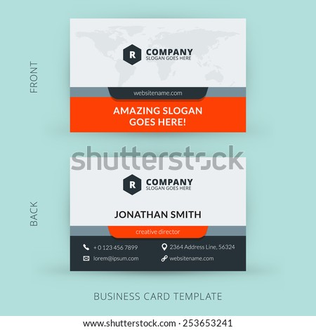 Business Card Template Stock Images RoyaltyFree Images Vectors - Business card template with photo