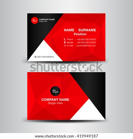 Vector modern creative clean business card stock vector hd royalty vector modern creative and clean business card templatered polygon backgroundflyer design flashek Gallery