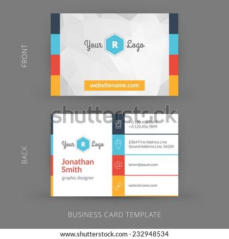 Vector modern creative business card template stock vector 232948534 vector modern creative business card template flat design eps 10 reheart Gallery