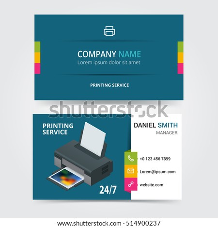 Vector modern creative business card template stock vector 514900237 vector modern creative business card template printing services express print copy media center reheart Image collections