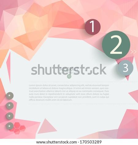 Vector Modern Design Minimal style infographic template - stock vector