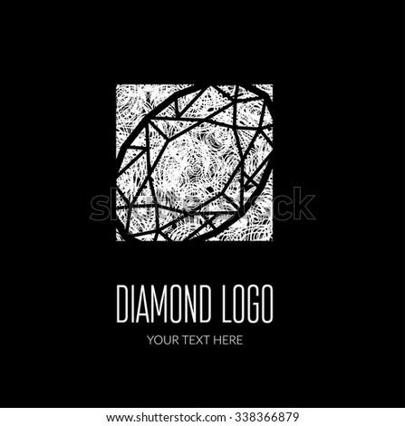 Vector modern diamond logo -  colorful design - stock vector