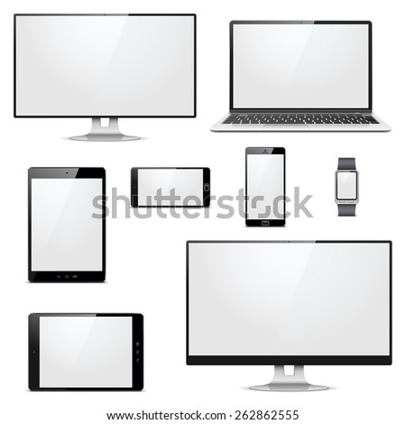 Vector Modern Electronic Devices - stock vector