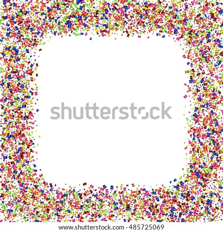 Vector modern festive confetti abstract background. Eps10