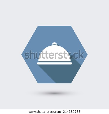 vector modern flat icon with long shadow. Eps10 - stock vector