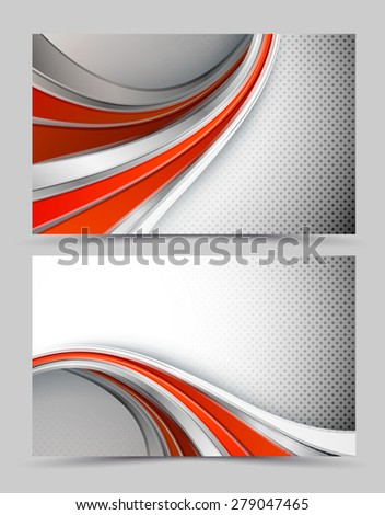vector modern flayer template with copy space. Eps10 - stock vector