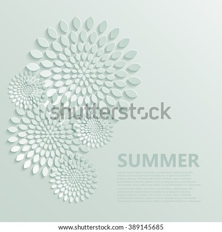 Vector modern flowers pattern background for wallpaper, print, postcard or invitation - stock vector