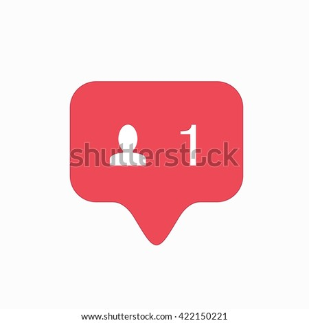 vector modern follow pink icon isolated on white background. - stock vector