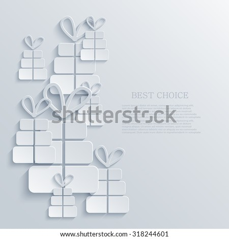 Vector modern gift light icon background. Eps10 - stock vector