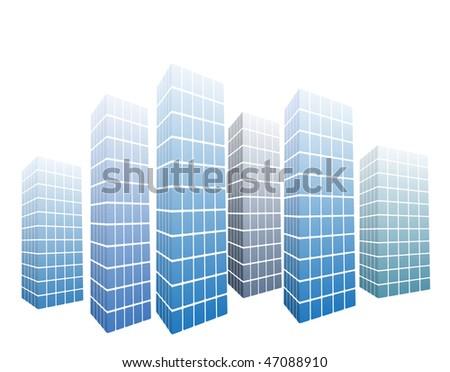 vector modern glass-buildings - stock vector