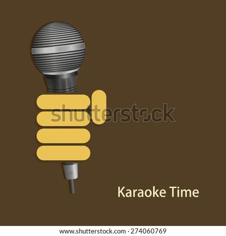 vector modern karaoke time background. Eps 10 - stock vector