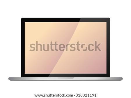 vector modern laptop screen - stock vector