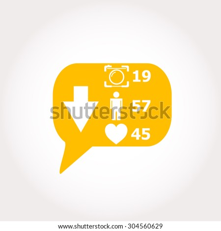 vector modern like icon button on white background - stock vector