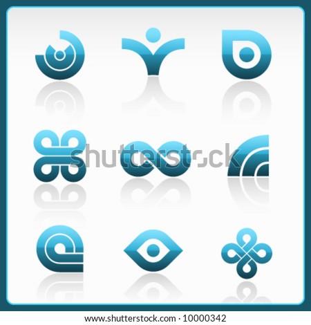 vector modern logos - stock vector
