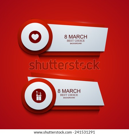 Vector modern 8 march background. Womens day banner. Eps10 - stock vector