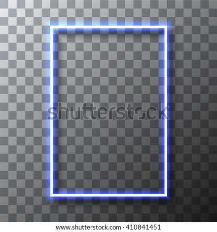 vector modern neon banner on transparent background. Eps10 - stock vector